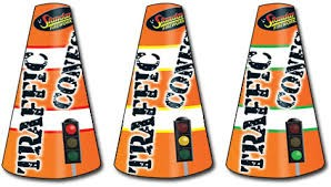 Black Cat Fireworks Traffic Cones