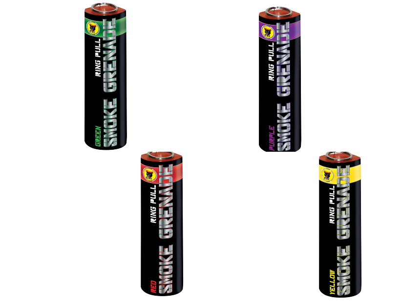 Black Cat Fireworks Smoke Grenade