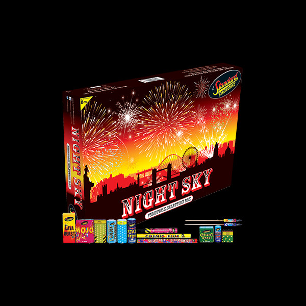 Black Cat Fireworks Night Sky Selection Box